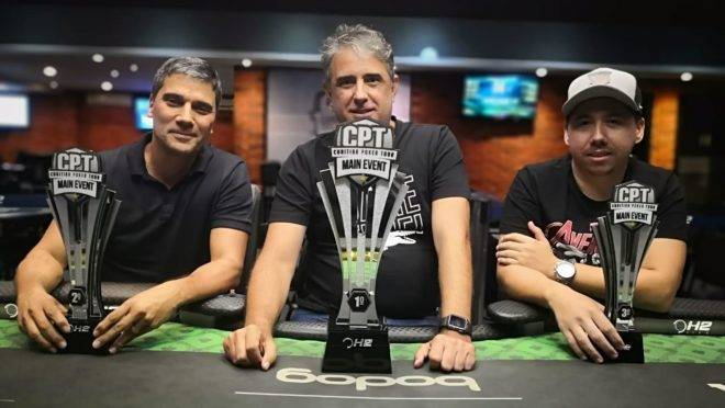 Alvaro Ribeiro (centro) foi o campeão da primeira etapa do CPT 2020. Foto: Divulgação/ H2 Curitiba