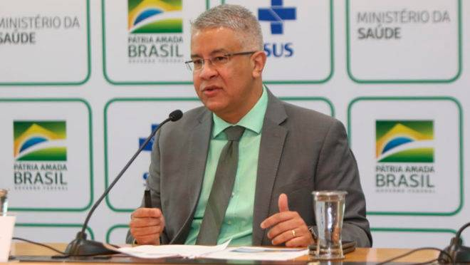 Wanderson Oliveira, secretário de vigilância em saúde do Ministério da Saúde.