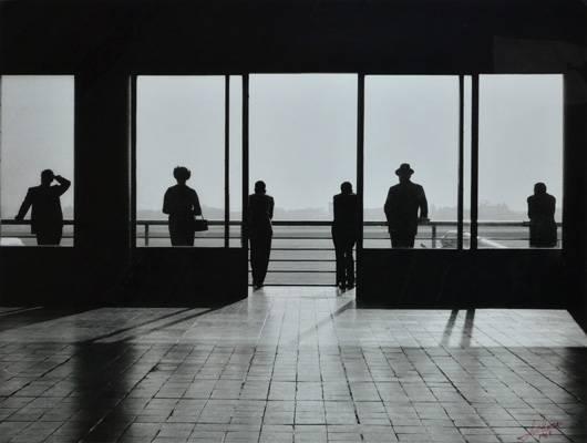 German Lorca | Aeroporto, 1965 | Papel fotográfico sobre cartão, 80 x 105 cm