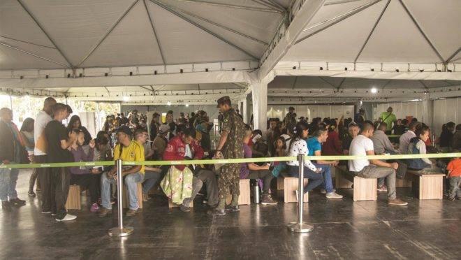 Posto da Operação Acolhida em Pacaraima: cidade é a primeira a receber os imigrantes vindos da Venezuela.