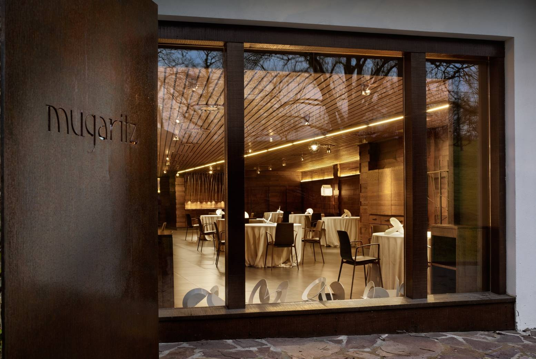 Fachada do Mugaritz, restaurante no país basco