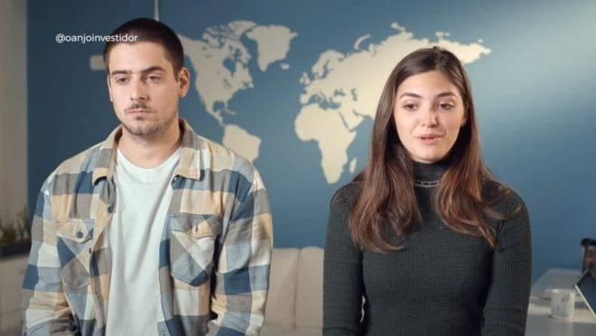 Pedro Tormin e Stephanie Edenburg, os fundadores da startup 4Student.