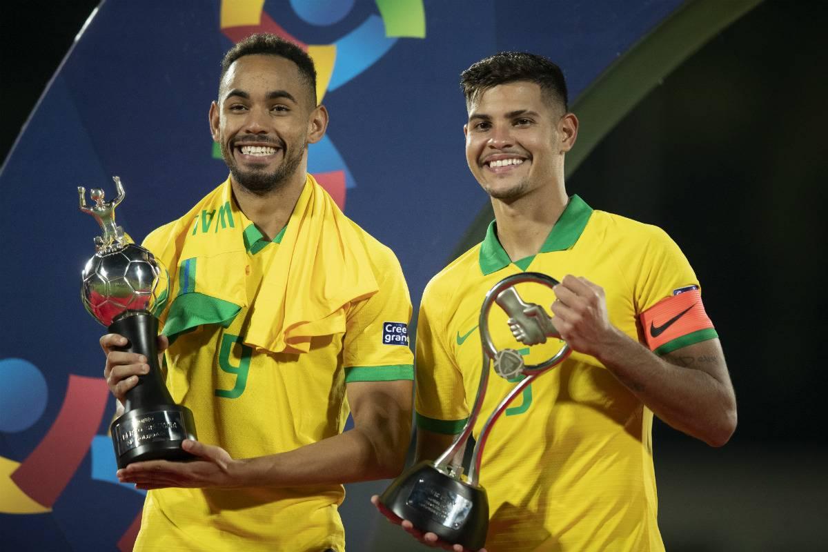 Matheus Cunha foi o artilheiro do pré-olímpico, com cinco gols, enquanto o volante Bruno Guimarães, ex-Athletico, foi eleito o craque da competição
