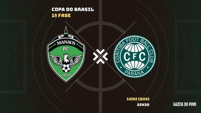 Manaus e Coritiba se enfrentam pela Copa do Brasil