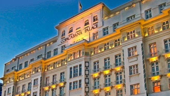 O Hotel Copacabana Palace, no Rio de Janeiro.