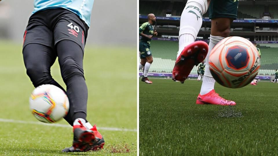 Palmeiras estreia grama sintética. Qual é melhor? Da Arena do Athletico ou do Allianz?