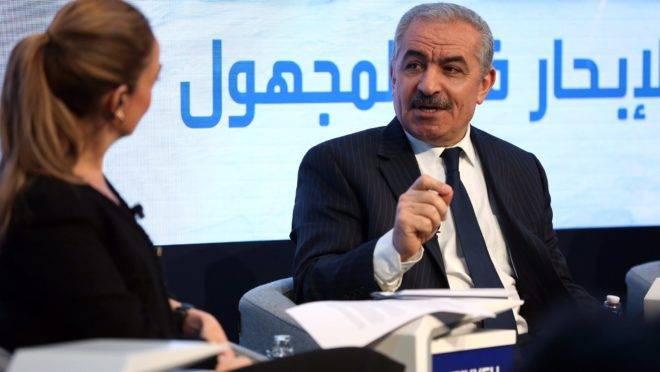 Primeiro-ministro da Palestina, Mohammad Shtayyeh, durante participação no Fórum Econômico Mundial, em janeiro.