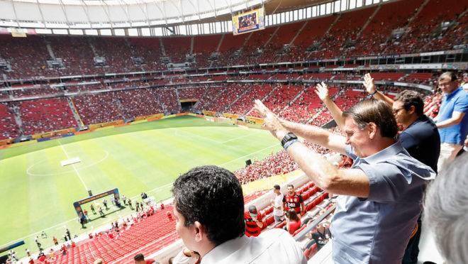 Jair Bolsonaro acompanhou a final da Supercopa do Brasil