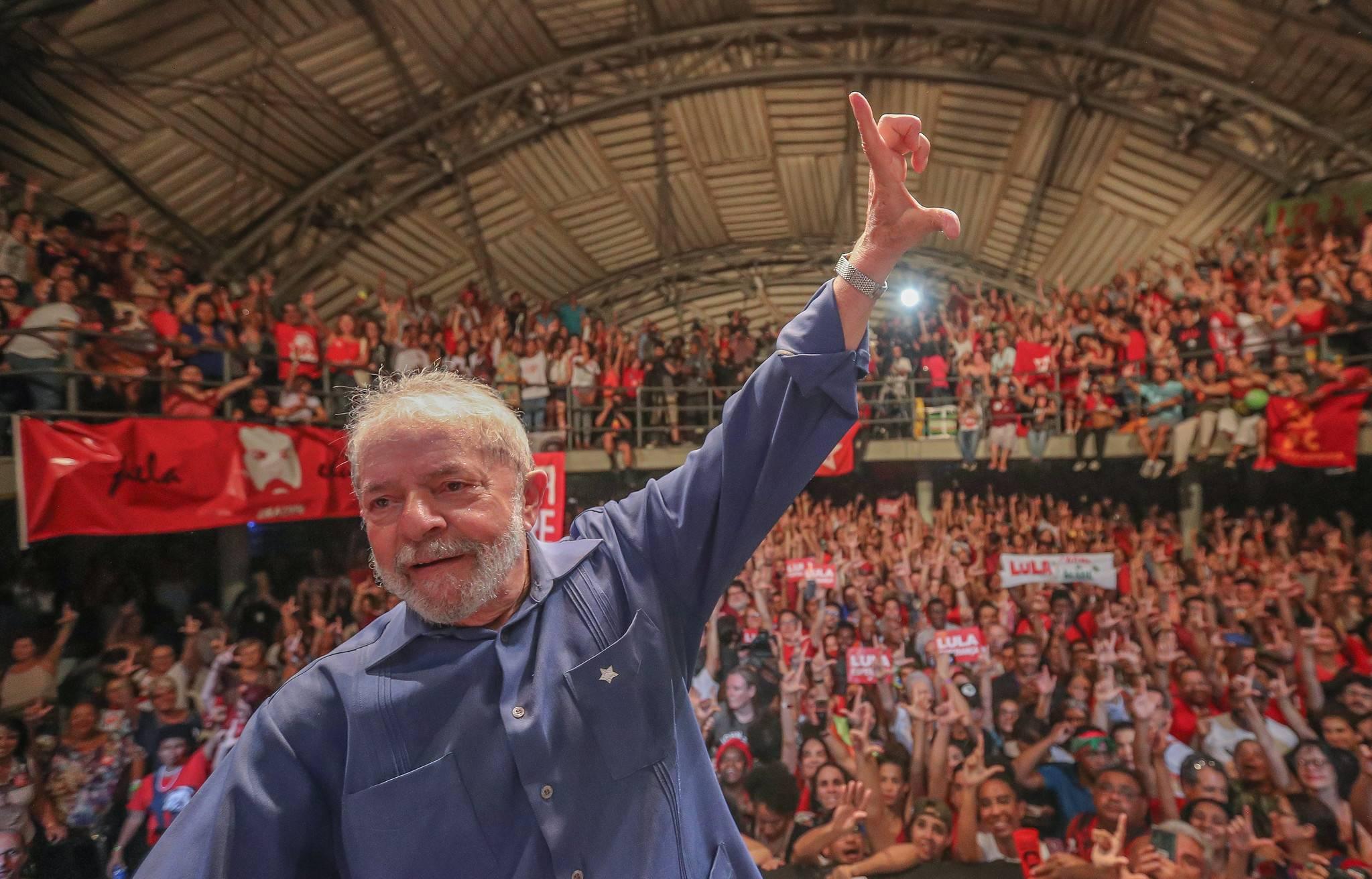 Lula participou de evento do PT no Circo Voador, no Rio de Janeiro, dias após sair da prisão.