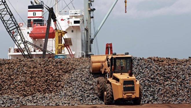 China é o principal destino do minério de ferro do Brasil