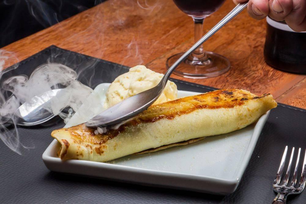 panqueca brulada de doce de leite 1985 Grelhados e Vinhos Chef André Dias