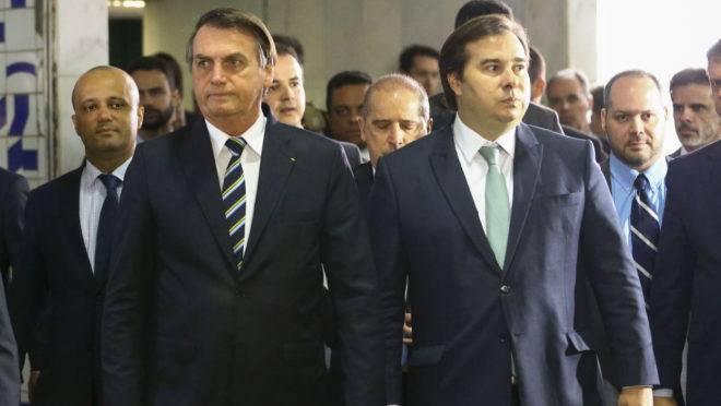 Bolsonaro e o presidente da Câmara, Rodrigo Maia