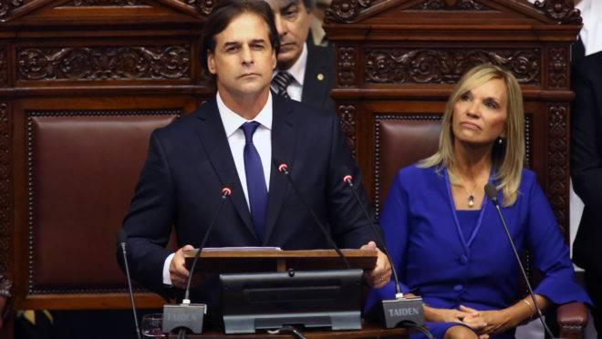 O novo presidente do Uruguai Luis Lacalle Pou