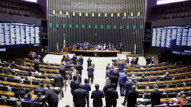 Sessão do Congresso Nacional em dezembro, em que houve a votação do orçamento impositivo.