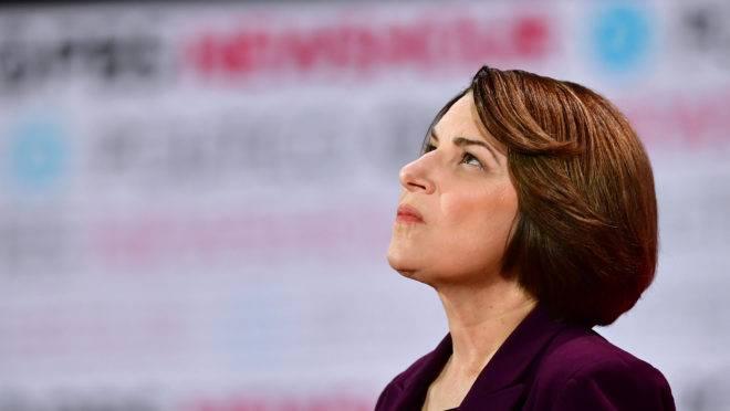 A senadora democrata Amy Klobuchar em foto de dezembro de 2019 (Imagem: Frederic J. Brown / AFP).