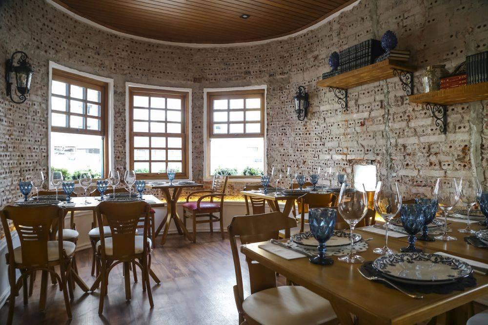 O ambiente interno do La Campesina. São sete salões distribuídos em dois andares.