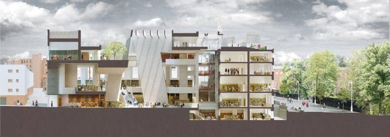 Parnell Square Cultural Quarter, em Dublin, é um dos projetos das arquitetas. Foto: Grafton Architects