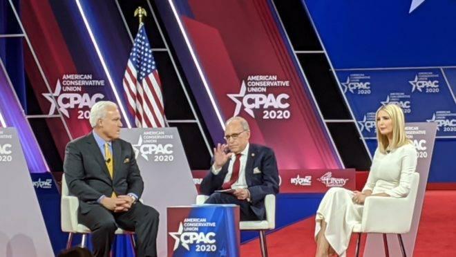 Durante a reunião anual dos conservadores, a CPAC, o economista-chefe da Casa Branca e Ivanka Trump alertaram para um perigo muito maior do que o vírus.