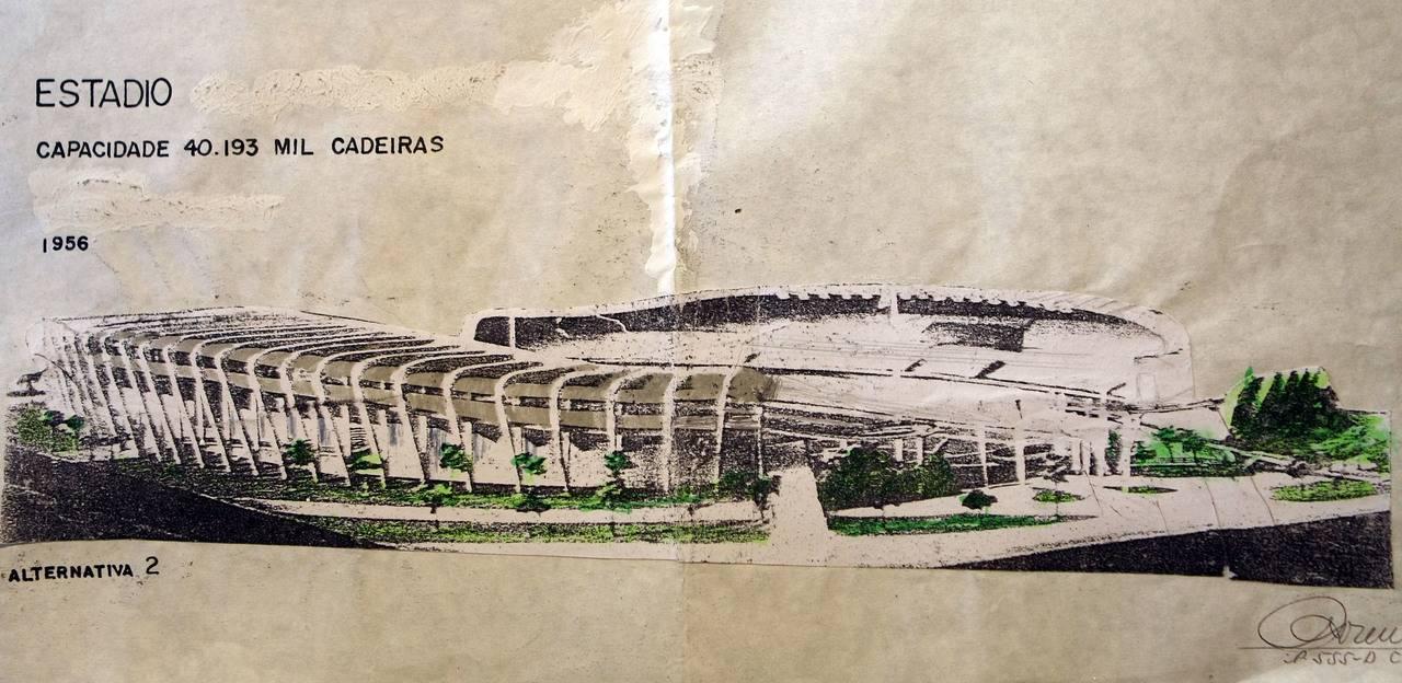 Projeto do estádio do Pinheirão. Valterci Santos/Arquivo/Gazeta do Povo