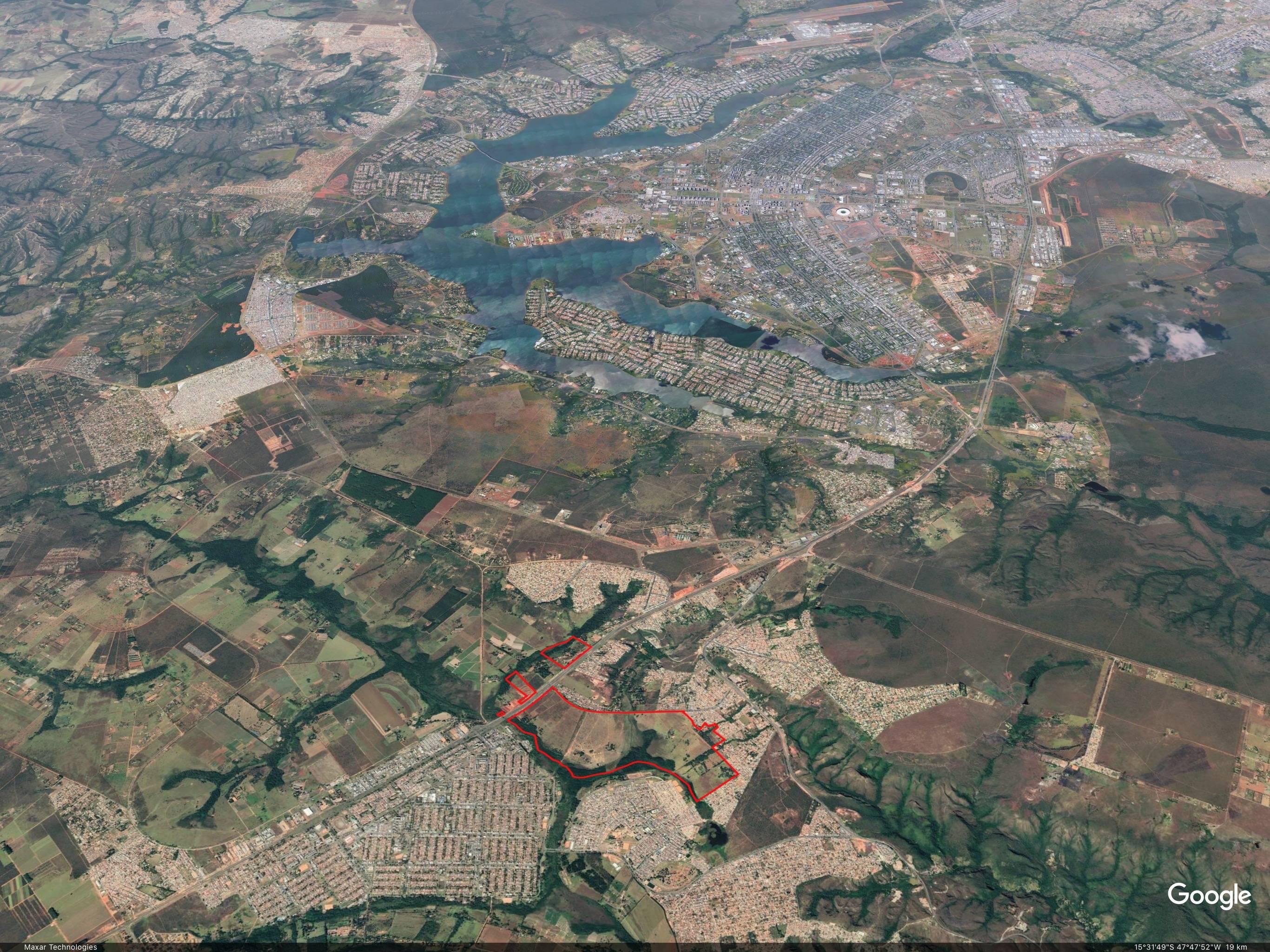Região onde será localizada a cidade-satélite Urbitá. Foto: Google/Reprodução
