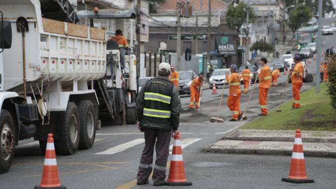 Obras de revitalização da Av. Visconde de Guarapuava começaram dia 10 de fevereiro