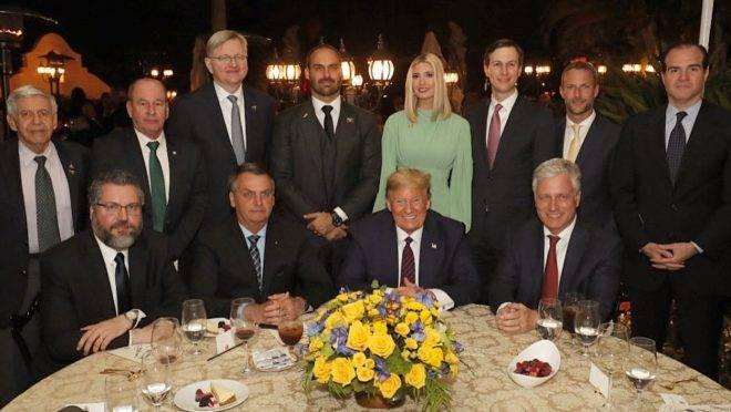 Jantar aconteceu em Mar-a-Lago, clube privado de Trump em Palm Beach