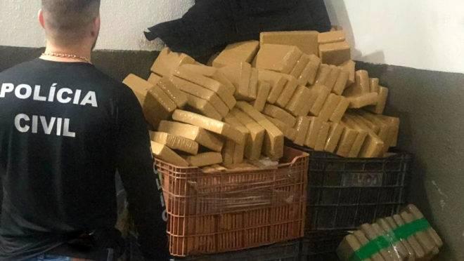 Polícia Civil apreendeu 52,2 toneladas de drogas no Paraná em 2019.