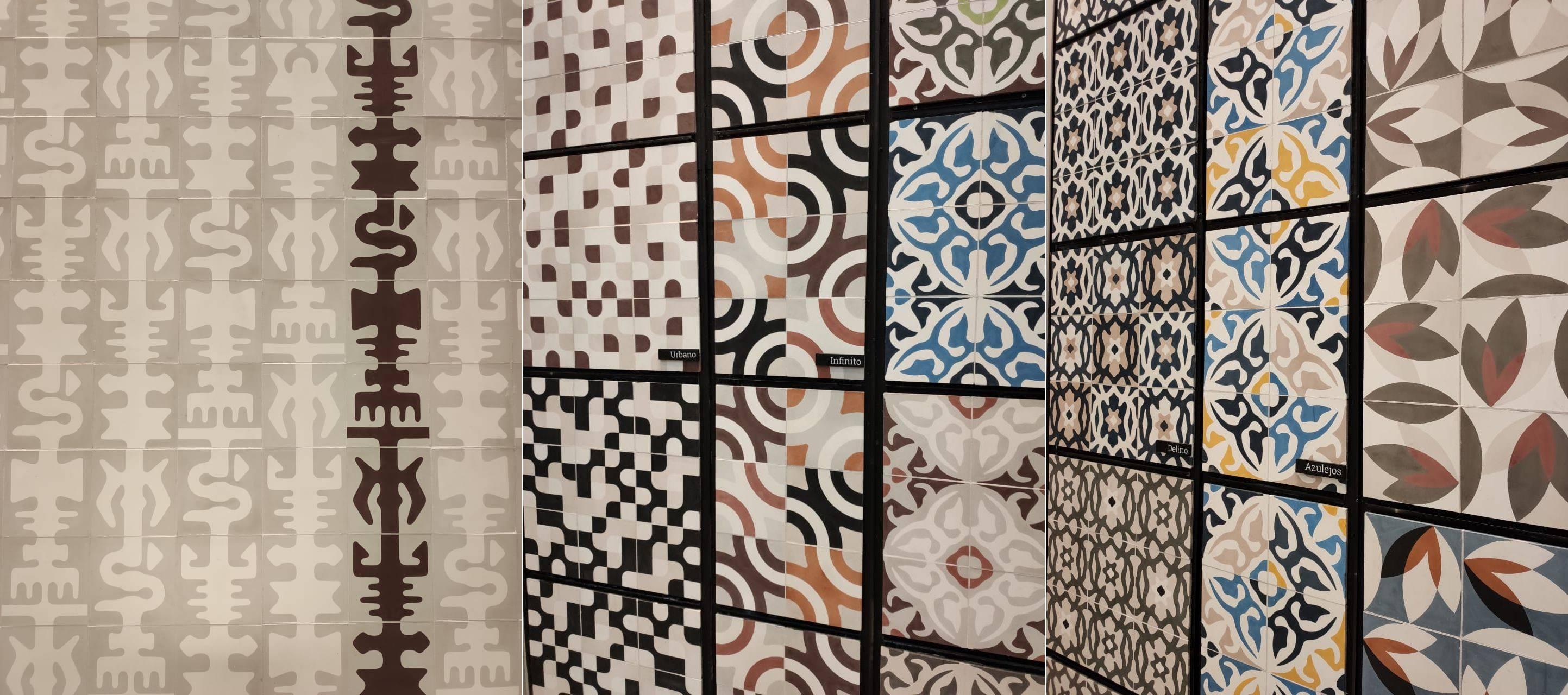 A Adamã, que faz manualmente cada azulejo, apresenta motivos religiosos, da natureza e alguns que lembram até o Rococó em cores que agradam a todos os gostos, indo do fendi ao vermelho vivo.