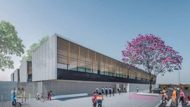 Proposta do escritório curitibano Sabóia + Ruiz para o Centro de Ensino Fundamental Parque do Riacho recebeu o primeiro lugar em concurso da Companhia de Desenvolvimento Habitacional do Distrito Federal (CODHAB-DF) Foto: Reprodução ArchDaily