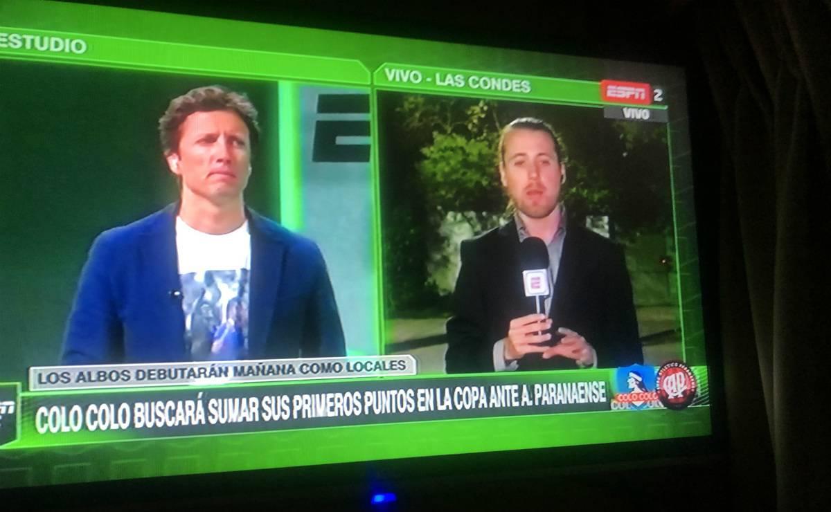 Boa parte da imprensa chilena colocou o símbolo antigo do Athletico nas matérias.