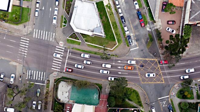 Foto aérea de Curitiba.
