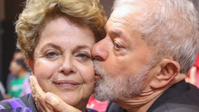 Lula e Dilma, ex-presidentes do PT