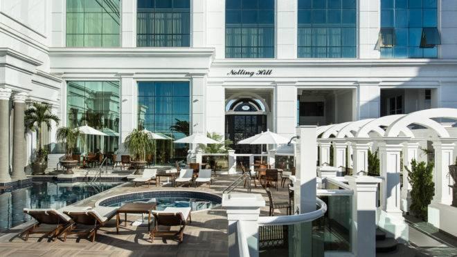 O Notting Hill Residence, em Balneário Camboriú, tem mais de 2 mil m² de áreas de lazer divididos em quatro pavimentos.