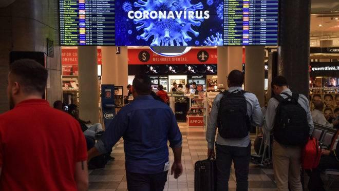 Alerta para o coronavírus no aeroporto de Congonhas, em SP