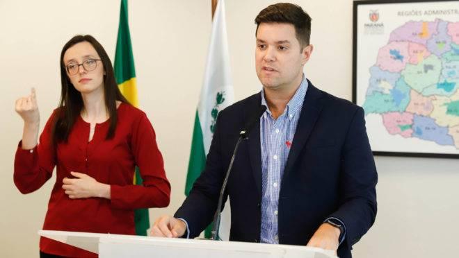 Guto Silva, secretário da Casa Civil, em pronunciamento sobre medidas para o coronavírus