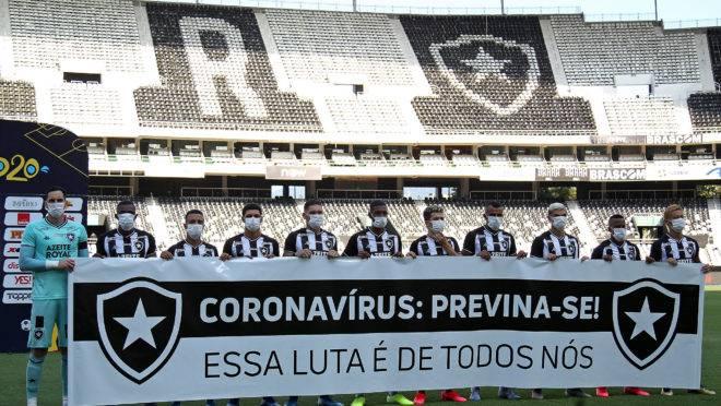 Tome do Botafogo fez o alerta na última rodada do Carioca antes da paralisação.