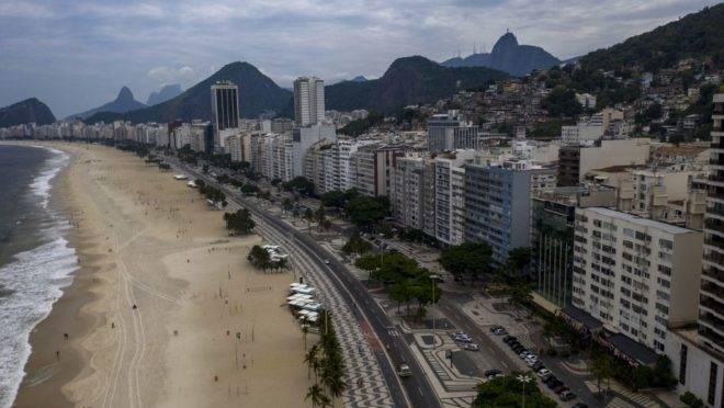 Praia no Rio de Janeiro.