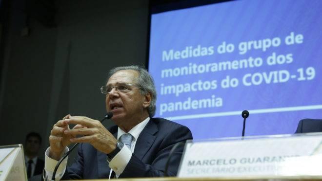 Ministro Paulo Guedes, em apresentação à imprensa.