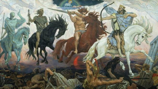 """""""Os quatro cavaleiros do Apocalipse"""", de Viktor Vasnetsov."""