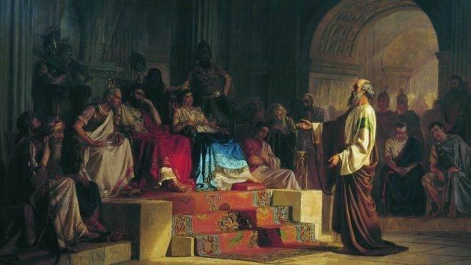 """O julgamento do apóstolo Paulo"", de Nikolai Bodarevsky."