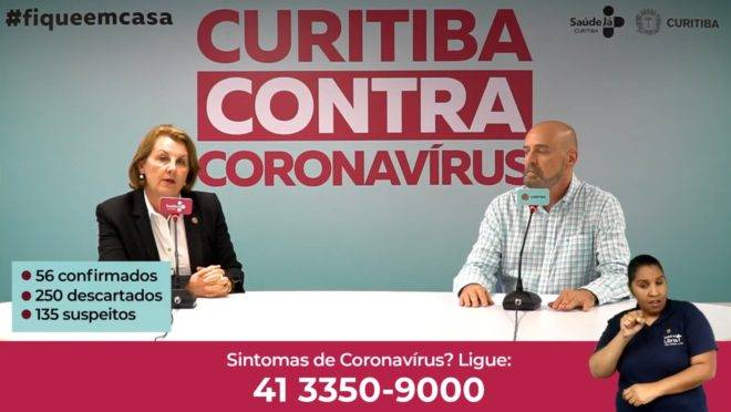 Em vídeo, secretária da Saúde de Curitiba, Marcia Huçulak, fala sobre o coronavírus.