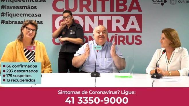 Boletim do coronavírus desta quinta contou com a presença do prefeito Rafael Greca.