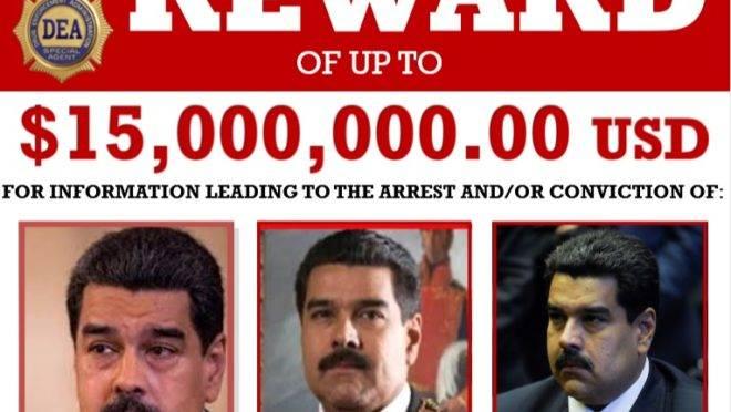 Formalmente, para as autoridades dos Estados Unidos, Nicolás Maduro é um traficante.