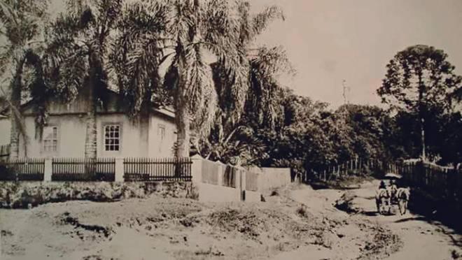 Chácara Schaffer, o terreno do atual Bosque Alemão, em 1920.