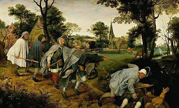 """""""A Parábola dos Cegos"""" Pieter Bruegel o Velho"""