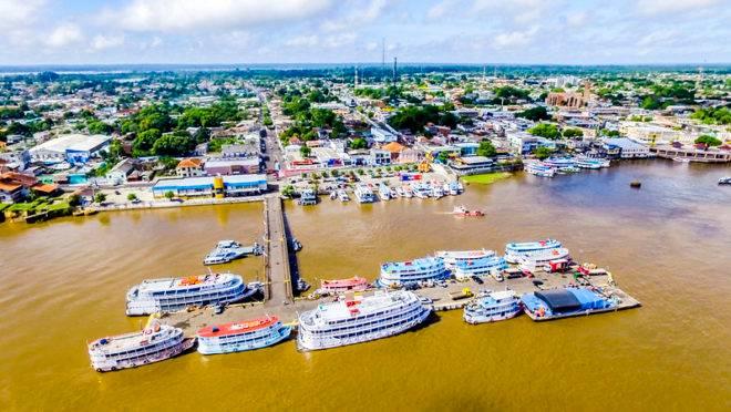 Porto de Parintins, no Amazonas