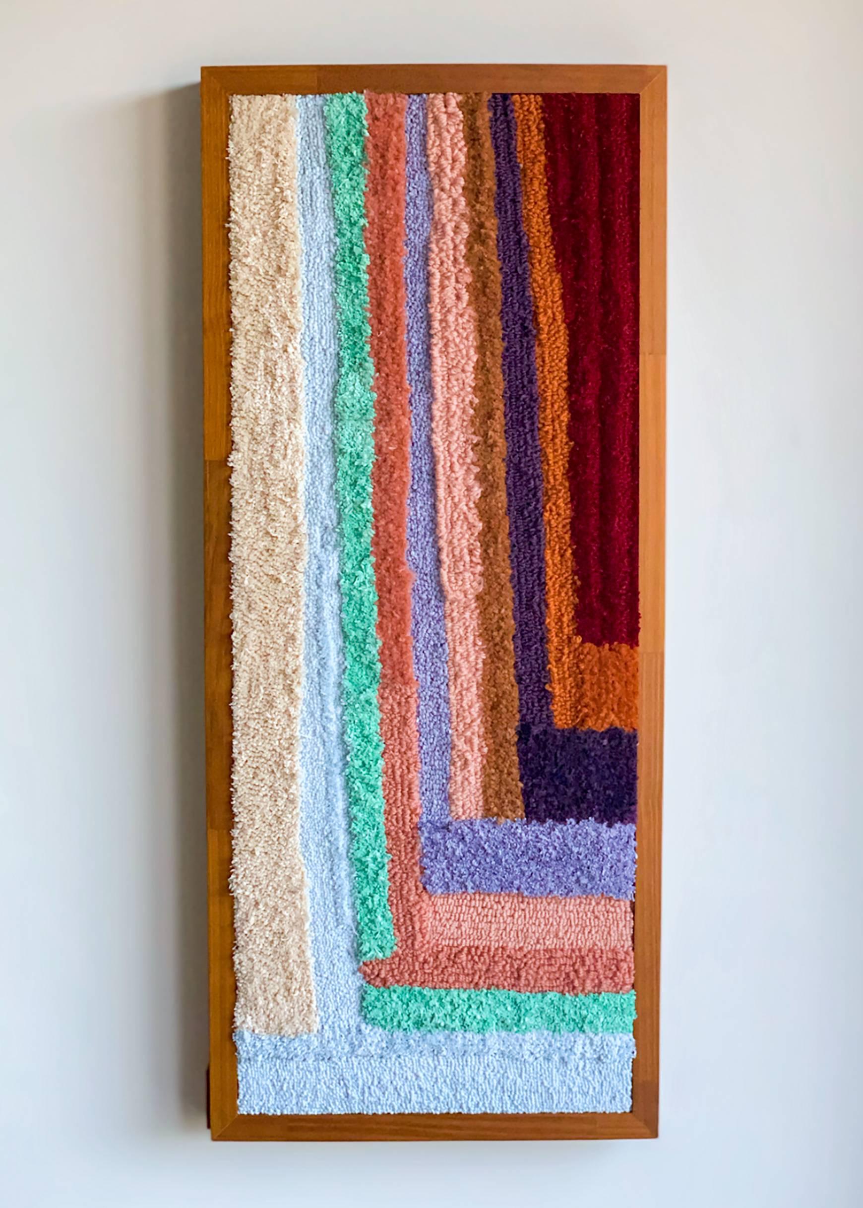 Os tapetes de tricô do designer Alex Rocca trazem cores e texturas aos ambientes. Foto: Divulgação