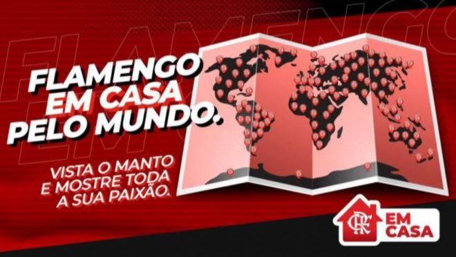 Campanha do Flamengo para que torcedores fiquem em casa
