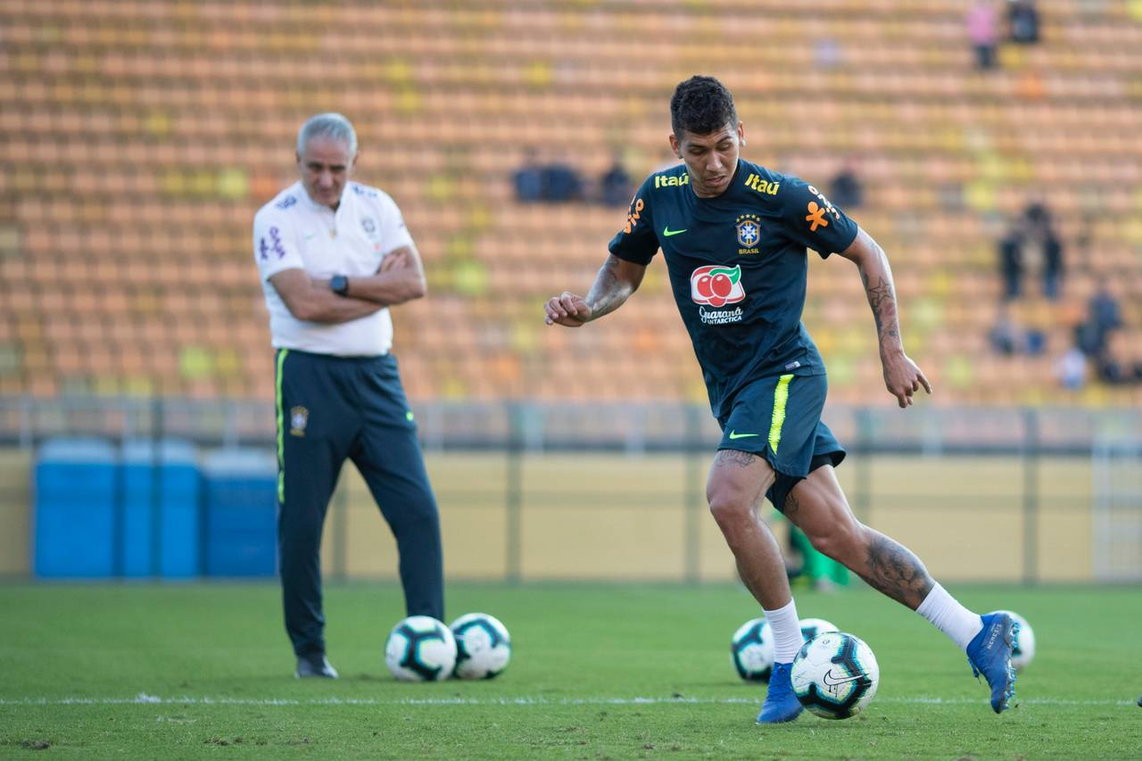 Treino da seleção brasileira no ano passado.