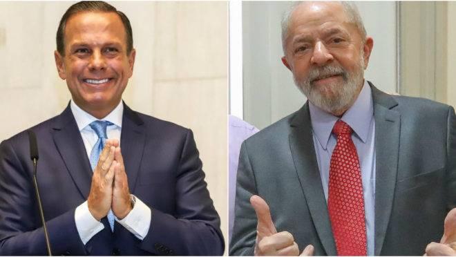 João Doria e Lula: quem diria que um dia os dois concordariam com alguma coisa.